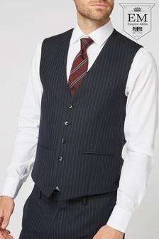 British Wool Striped Suit: Waistcoat