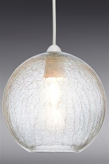 Smoke Crackle Easy Fit Glass Pendant