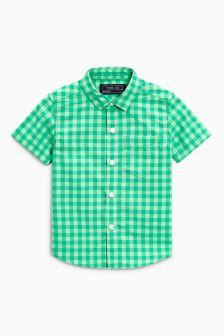 Gingham Short Sleeve Shirt (3mths-6yrs)