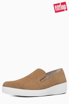 FitFlop™ Soft Brown Perforated Superskate Pump