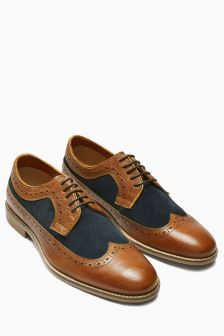 Leather Mix Brogue