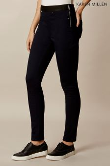 Karen Millen Black Sailor Detail Legging