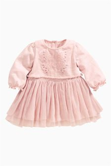 Pink Pink Butterfly Dress (0-18mths)