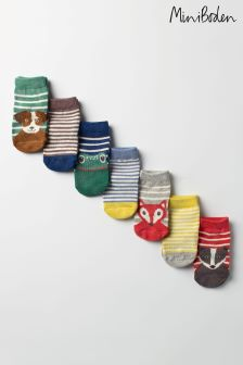 Boden Green Sock Box Seven Pack
