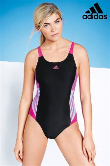 adidas Black/Pink Infinitex® Swimsuit