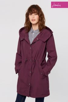 Joules Burgundy Swithin Waterproof Parka