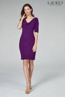 Lauren Ralph Lauren Purple Carletn Dress