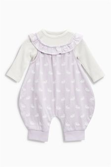 Dungarees And Bodysuit Set (0mths-2yrs)