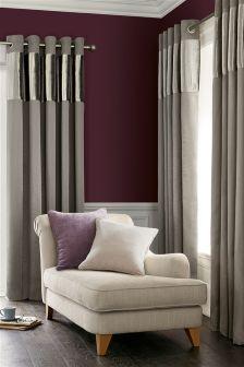 Luxury Pleated Band Eyelet Curtains