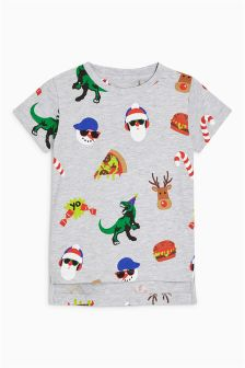 Boys Xmas All-Over-Print T-Shirt (3mths-6yrs)