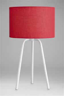 Tripod Cotton Table Lamp
