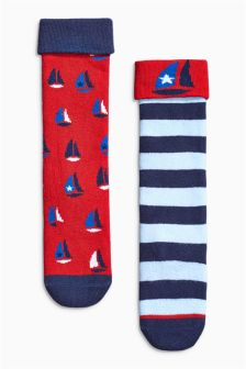 Two Pack Welly Socks (0mths-12yrs)