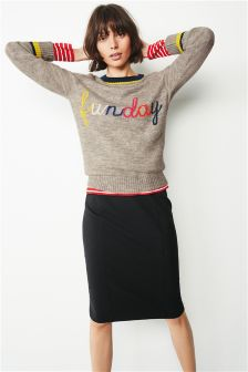 Funday Slogan Sweater