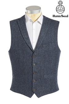 Harris Tweed Herringbone Waistcoat