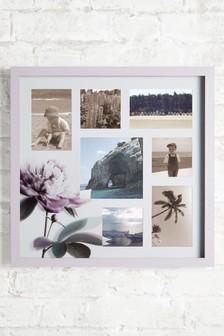 Floral Seven Aperture Collage Frame