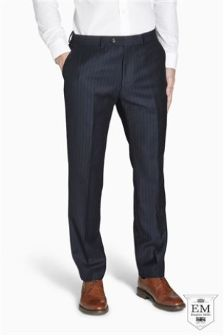 Signature British Wool Stripe Suit: Trousers
