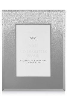 "Silver Glitter Frame 6 x 4"""
