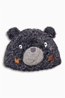 Grey Bear Fleece Hat (0-18mths)