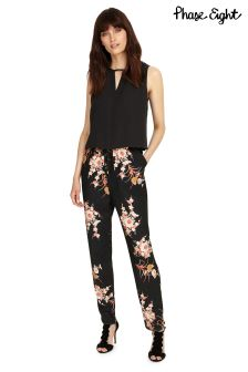 Phase Eight Multi Oriental Print Jumpsuit