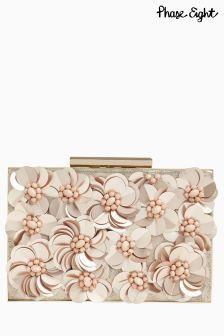 Phase Eight Nude Flora Box Clutch
