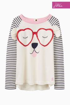 Joules Navy Stripe Novelty Top
