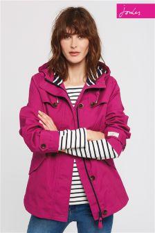 Joules Purple Waterproof Hooded Coast Jacket