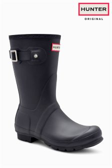 Hunter Black Matt Original Short Welly