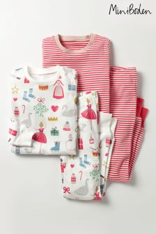 Boden Cream Twin Pack Cosy Long John