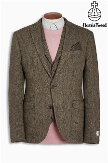 Harris Tweed Slim Fit Wool Jacket