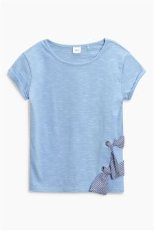 Tie Side Short Sleeve T-Shirt (3-16yrs)
