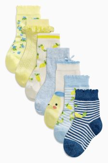 Lemon Socks Seven Pack (Younger Girls)
