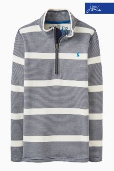 Joules Navy Stripe Half Zip Sweatshirt