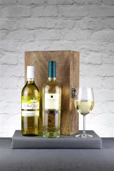 2 Bottles Of White Pinot Grigio Wine Gift