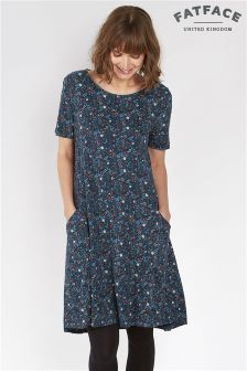 Fat Face Navy Simone Evergreen Dress