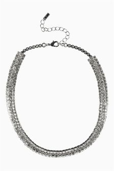 Diamanté Short Necklace