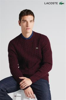 Lacoste® Cable Knit Wool Sweater