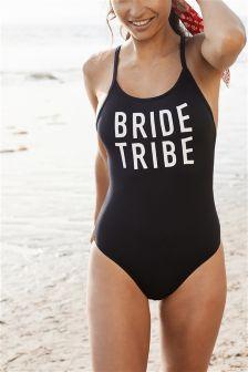 'Bride Tribe' Slogan Swimsuit