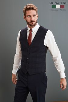 Signature Check Slim Fit Suit: Waistcoat