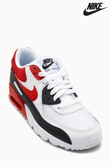 Nike White/Red Air Max 90