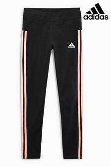 adidas Black/Red 3 Stripe Legging