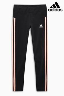 adidas Black/Red 3 Stripe Legging