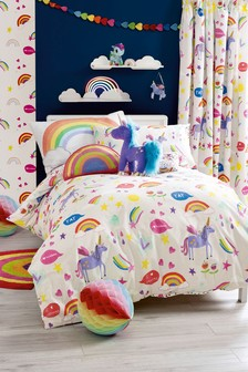 Rainbow And Unicorn Bed Set