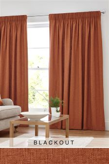 Bouclé Blend Multi Header Blackout Curtains
