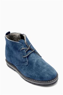 Water Resistant Suede Boots (Younger Boys)