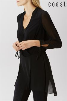 Coast Black Bengal Overlay Blouse
