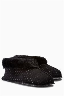 Dot Low Cut Slipper Boots