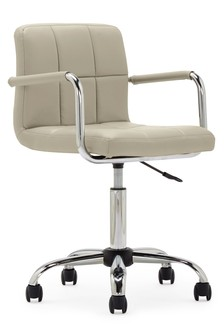 Cube Home Office Chair In Mink Faux Leather