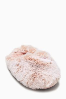 Fur Mule Slippers (Older Girls)