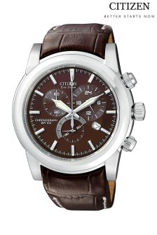 Brown Citizen Gents Eco Drive® Mens Sports Watch