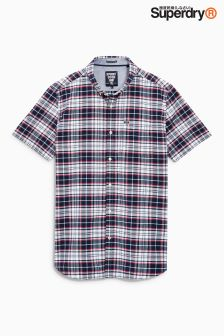 Superdry Blue Check Short Sleeve Shirt